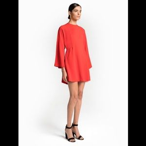 A.L.C. Audrina Flame Red Structured Dress Size 4